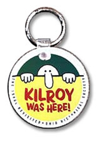 """Kilroy was Here"" Key Chain"