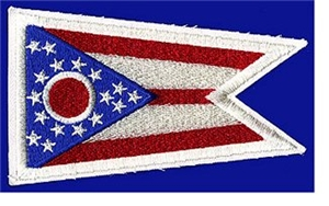 Ohio Flag Patch